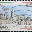 ITALY - CIRCA 2007: A stamp printed in Italy shows the city of Rome, circa 2007 - Stock Photo