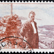Stock Photo: NORWAY - CIRC1976: stamp printed in Norway shows Olav Duun, novelist, circ1976