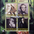 Stock Photo: RWAND- CIRC2009: Set de 4 stamps printed in Rwanddedicated to Charles Darwin, circ2009