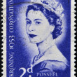 Stock Photo: SOUTH AFRIC- CIRC1953: stamp printed in South Africcelebrating coronation of Queen Elizabeth II, circ1953