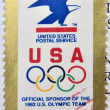 Stock Photo: UNITED STATES OF AMERIC- CIRC1992: stamp printed in USdevoted USPS - official sponsor of 1992 US Olympic team, circ1992