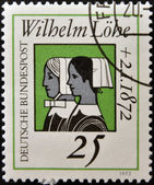 GERMANY - CIRCA 1972: A stamp printed in Germany dedicated to Wilhelm Lohe, founder of the Deaconesses Training Institute at Neuendettelsau shown Deaconesses, circa 1972 — Stock Photo