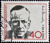 GERMANY - CIRCA 1972: a stamp printed in Germany shows Kurt Schumacher, Politician, circa 1972 — Stock Photo