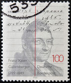 GERMANY - CIRCA 1989: A stamp printed in Germany shows Franz Xaver Gabelsberger, circa 1989 — Stock Photo