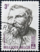 BELGIUM - CIRCA 1965: a stamp printed in Belgium shows Adam van Noort, Flemish Painter and Draughtsman, circa 1965 — Foto Stock