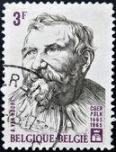 BELGIUM - CIRCA 1965: a stamp printed in Belgium shows Adam van Noort, Flemish Painter and Draughtsman, circa 1965 — Foto Stock