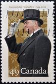 CANADA - CIRCA 2002: A stamp printed in Canada shows Ramon John Hnatyshyn — Stock Photo