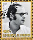 DJIBOUTY - CIRCA 2009: A stamp printed in Djibouty shows Sanjay Gandhi, circa 2009 — Stock Photo