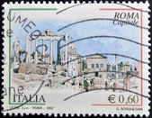 ITALY - CIRCA 2007: A stamp printed in Italy shows the city of Rome, circa 2007 — Foto de Stock