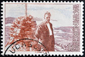 NORWAY - CIRCA 1976: a stamp printed in Norway shows Olav Duun, novelist, circa 1976 — Stock Photo