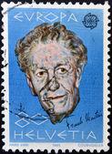 SWITZERLAND - CIRCA 1985: stamp printed in Switzerland shows Frank Martin, circa 1985 — Stock Photo