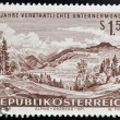 AUSTRIA - CIRCA 1971: A stamp printed in austria shows Alpine Erzberg, circa 1971 — Stock Photo #26198463
