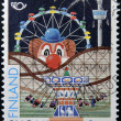 FINALND - CIRCA 1995: A stamp printed in Finland dedicated to fairground, circa 1995  — Stock Photo