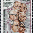 Royalty-Free Stock Photo: ITALY - CIRCA 1976: stamp printed in Italy shows Italian presidents, circa 1976