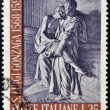 Stock Photo: ITALY - CIRCA 1968: A stamp printed in Italy shows Aloysius Gonzaga, circa 1968