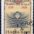ITALY - CIRCA 1978: A stamp printed in Italy shows The Teatro alla Scala in Milan, circa 1978 — Lizenzfreies Foto