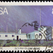 REPUBLIC OF SOUTH AFRICA - CIRCA 1983: A stamp printed in Republic of South Africa shows gough island base, circa 1983  — Stock Photo
