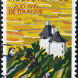 SWITZERLAND - CIRCA 1987: A stamp printed in Switzerland commemorating the 200 years of tourism, circa 1987  — Stock Photo