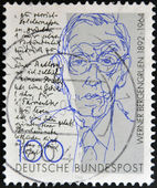 GERMANY - CIRCA 1992: A stamp printed in Germany shows Werner Bergengruen, circa 1992 — Stockfoto