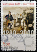 AUSTRALIA - CIRCA 2009 : a stamp printed in Australia dedicated to first postmaster, australia post 200 years, circa 2009 — Stock Photo