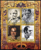 DJIBOUTY - CIRCA 2009: A stamp printed in Djibouty dedicated to family Gandhi, circa 2009 — Stock Photo