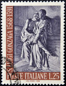 ITALY - CIRCA 1968: A stamp printed in Italy shows Aloysius Gonzaga, circa 1968 — Stock Photo