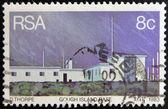 Republika południowej afryki - ok. 1983: znaczek wydrukowany w republice południowej afryki pokazuje wyspa gough podstawy, ok. 1983 — Zdjęcie stockowe