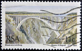 SOUTH AFRICA - CIRCA 1984: A stamp printed in RSA shows Bridge over the mountain gorge in Bloukransrivierbrug , circa 1984 — Stock Photo