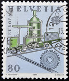 SWITZERLAND - CIRCA 1983: stamp printed in Switzerland shows Cog railway, circa 1983 — Stock Photo