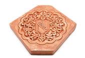 Arabic decoration, plastering Alhambra style with Nazari shield — Stock Photo