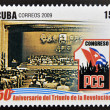 CUBA - CIRCA 2009: A stamp printed in cuba dedicated to 50 anniversary of the triumph of the revolution, shows First Congress of the Cuban Communist Party, circa 2009 — Stock Photo #26375369