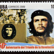 CUBA - CIRCA 2009: A stamp printed in cuba dedicated to 50 anniversary of the triumph of the revolution, shows Day of the Heroic Guerrilla, Che Guevara, circa 2009 — Stock Photo #26375793