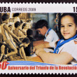 CUB- CIRC2009: stamp printed in cubdedicated to 50 anniversary of triumph of revolution, shows International Day of Children, circ2009 — Stock Photo #26375831