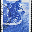 NORWAY - CIRCA 1984: A stamp printed in Norway shows Sport Fishing, circa 1984 — Stock Photo
