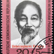 GERMANY- CIRCA 1970: A stamp printed in Germany shows Ho Chi Minh, circa 1970 — Stock Photo #27118009