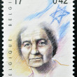 Stock Photo: BELGIUM - CIRCA 1999: A stamp printed in Belgium showing an image of Golda Meir, circa 1999.