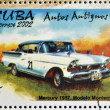 CUB- CIRC2002: stamp printed in Cubdedicated to retro car, shows Mercury 1957, Monterrey model, circ2002 — Stock Photo #27118163