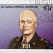 Stock Photo: FIJI - CIRC2005: stamp printed in Fiji shows US General Dwight D. Eisenhower, circ2005