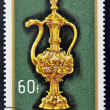 Stock Photo: HUNGARY - CIRC1970: stamp printed in Hungary shows Altar burette, 1500, circ1970