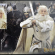 Постер, плакат: NEW ZEALAND CIRCA 2003: stamp printed in New Zealand shows Gandalf the White from The Lord of the Rings circa 2003