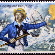 UNITED KINGDOM - CIRCA 1972: A stamp printed in Great Britain shows Coastguard 1882, circa 1972 — Stock Photo #27118513