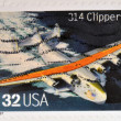 UNITED STATES OF AMERICA - CIRCA 1997: A stamp printed in USA shows 314 Clipper, circa 1997 — Stock Photo