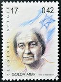 BELGIUM - CIRCA 1999: A stamp printed in Belgium showing an image of Golda Meir, circa 1999. — Stock Photo