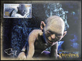 NEW ZEALAND - CIRCA 2003: A stamp printed in New Zealand dedicated to The Lord of the Rings shows Gollum, circa 2003 — 图库照片