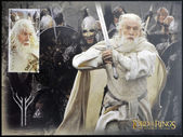 NEW ZEALAND - CIRCA 2003: stamp printed in New Zealand, shows Gandalf the White from The Lord of the Rings, circa 2003 — Stock Photo