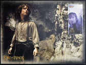 NEW ZEALAND - CIRCA 2003: A stamp printed in New Zealand dedicated to The Lord of the Rings shows Frodo, circa 2003 — Stock Photo