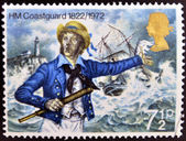 UNITED KINGDOM - CIRCA 1972: A stamp printed in Great Britain shows Coastguard 1882, circa 1972 — Stock Photo