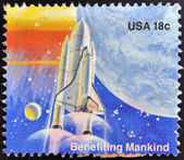 UNITED STATES OF AMERICA - CIRCA 1981: A stamp printed in the USA shows Benefiting Mankind, circa 1981 — Stock Photo