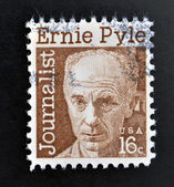 UNITED STATES OF AMERICA - CIRCA 1971: a stamp printed in USA shows Ernest Taylor Pyle, journalist, circa 1971 — Stock Photo