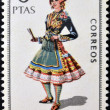 SPAIN - CIRCA 1970: A stamp printed in Spain dedicated to Provincial Costumes shows a woman from Toledo, circa 1970.  — Stock Photo
